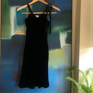 Vince black velvet dress
